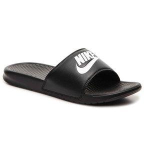 Nike BENASSI Just Do It Black/White  Slide Sandals